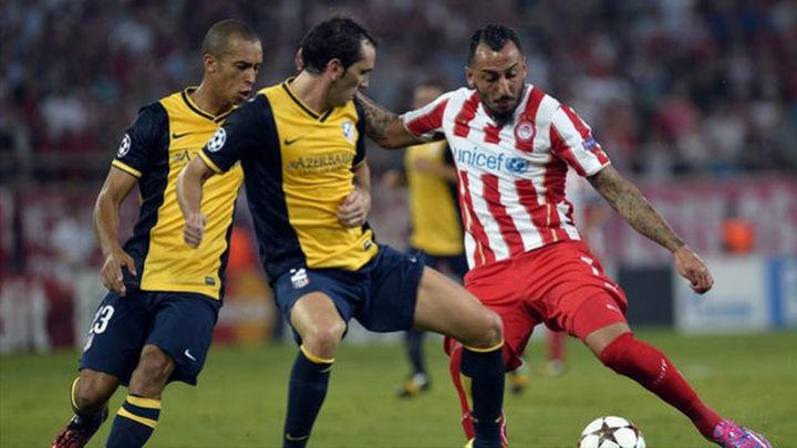 El Atlético ante el Olympiacos y a una victoria de octavos