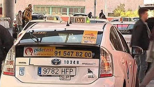 Robo de taxis en Atocha