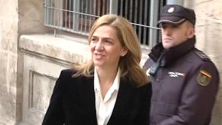 La infanta Cristina será juzgada por dos delitos fiscales, en el caso Nóos