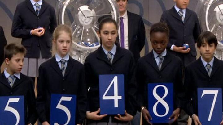 El 55.487, primer premio de El Niño, vendido íntegramente en Leganés