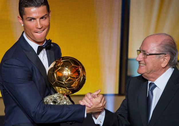 Cristiano y Blatter