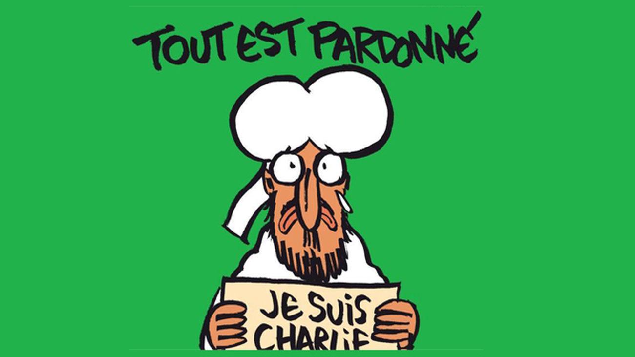 'Charlie Hebdo' sacará una caricatura de Mahoma con el cartel de 'Yo soy Charlie'