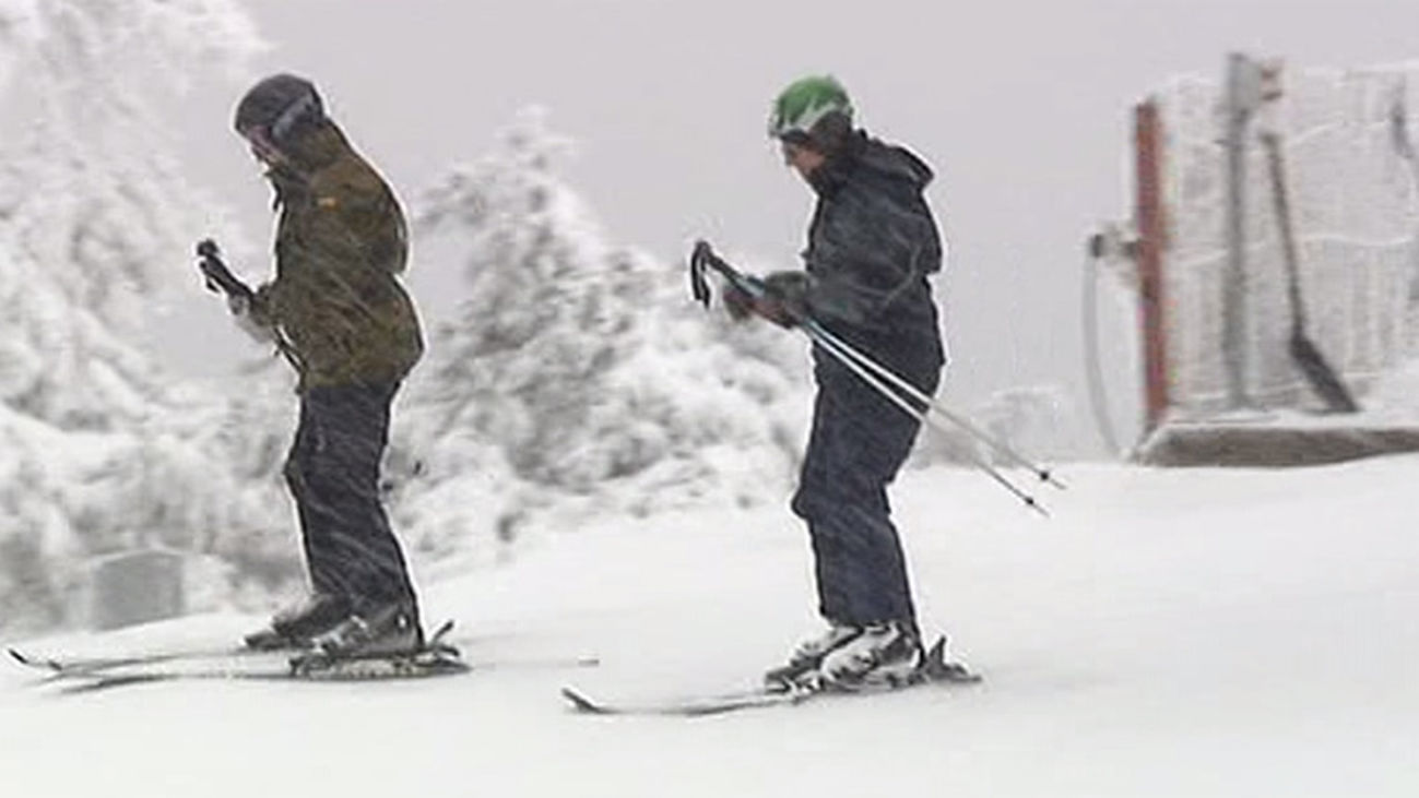 Hoy de nuevo han disfrutado de la nieve