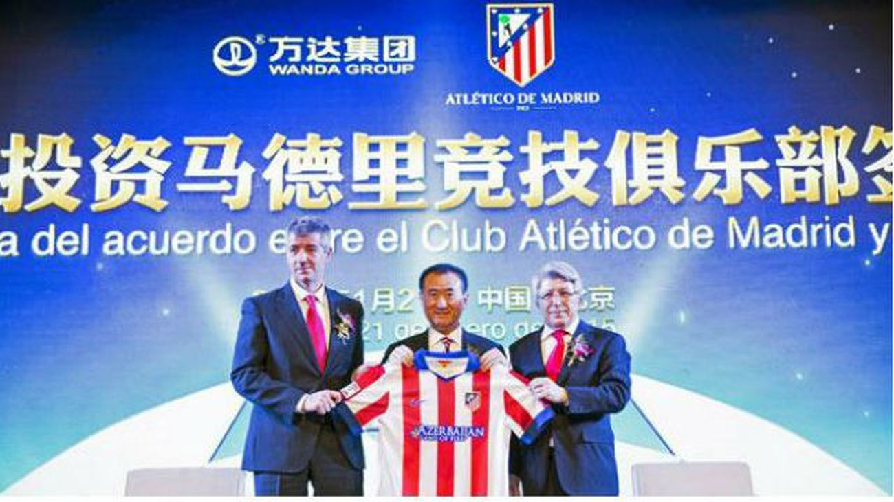 El Atlético hace oficial la venta del 20% del club a Wang Jianlin