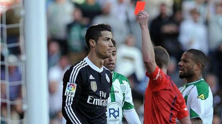 Cristiano suma ya cinco expulsiones con el Real Madrid
