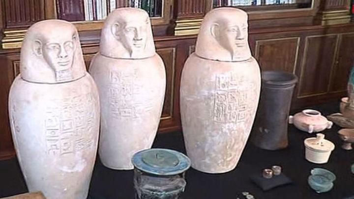 La Guardia Civil recupera 36 piezas expoliadas en Egipto de 3.000 años de antigüedad