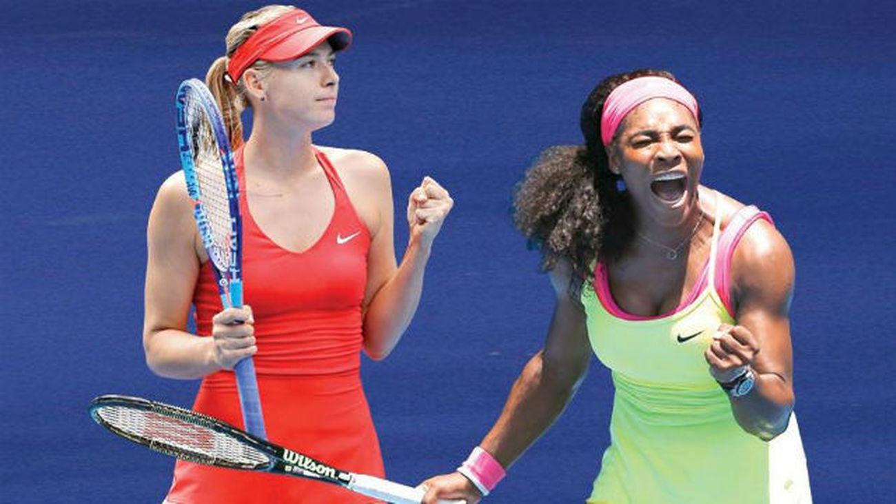 Sharapova y Serena Williams