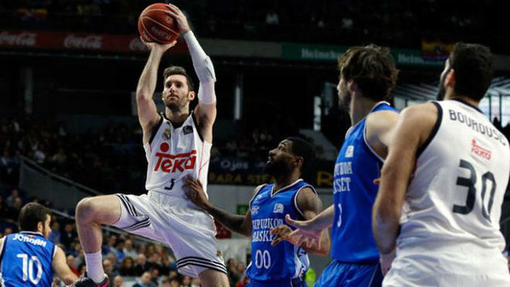 El Madrid gana al Gipuzkoa (86-70) y 'Estu' al Joventut (78-75)