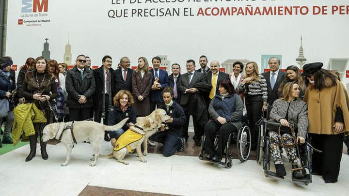 Los perros guía podrán entrar a todos los espacios públicos en Madrid