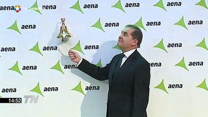 Las acciones de AENA cierran su primer día en Bolsa con una subida del 20,69%