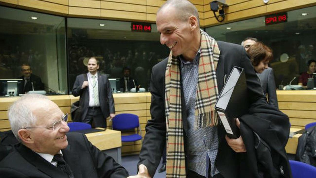 Yanis Varufakis y Wolfgang Schäuble