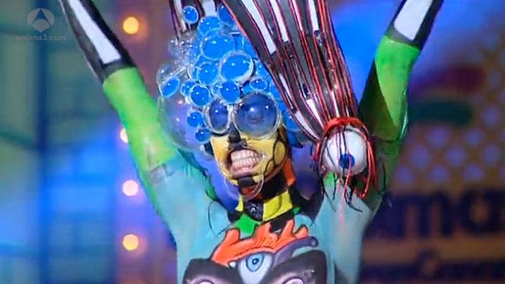 Víctor Cabrera gana el concurso de maquillaje corporal del Carnaval de Las Palmas