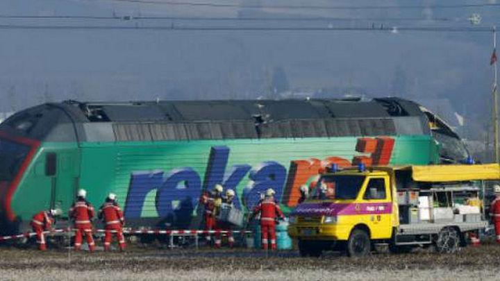 Un choque de trenes en Suiza deja cinco heridos, uno de ellos grave