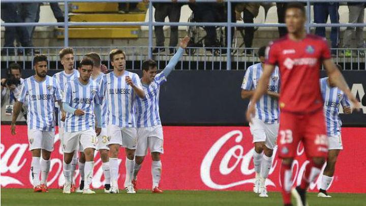 3-2. El Getafe se va de vacío de Málaga