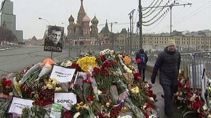 La compañante ucraniana de Nemtsov dice no haber visto a los asesinos