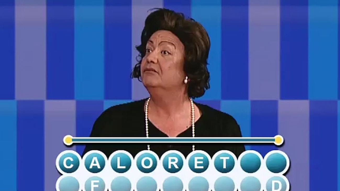 El Tele Tipo de Rita Barberá se estrena en Cifras y Letras defendiendo su palabra inventada: El Caloret