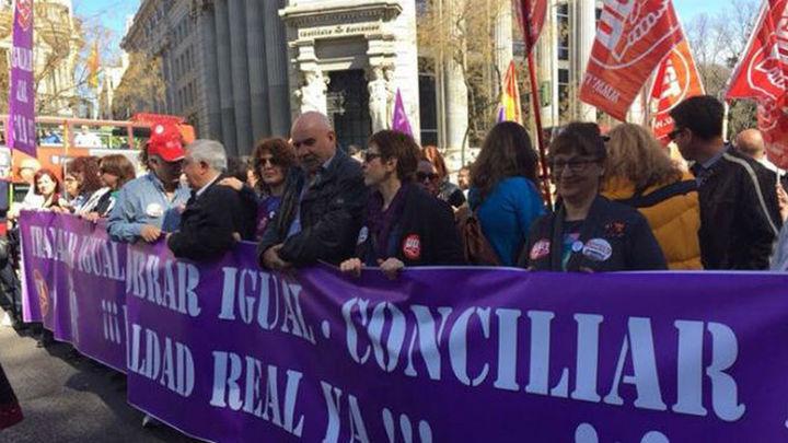 Las mujeres toman el corazón de Madrid por la igualdad
