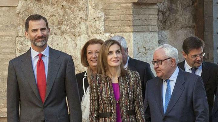 Los Reyes conocen efectos de la riada y se interesan por soluciones para el Ebro