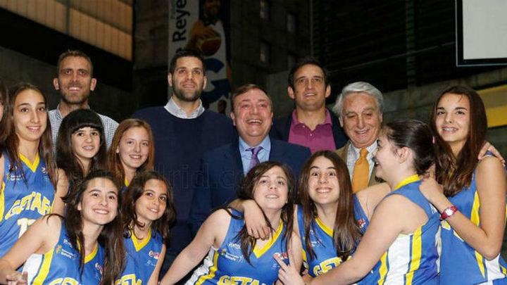 Felipe Reyes inaugura un pabellón con su nombre en Getafe