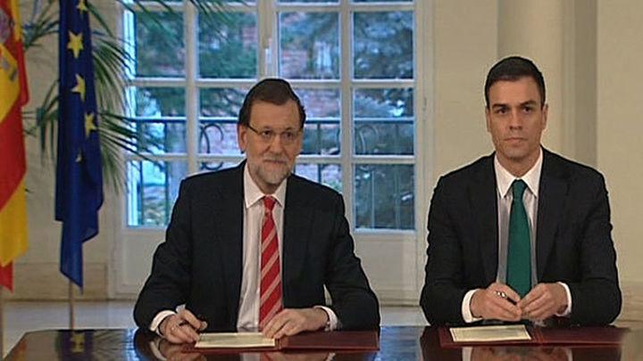 Sánchez rechaza incluir imputados en las listas y Rajoy habla de estudiar cada caso