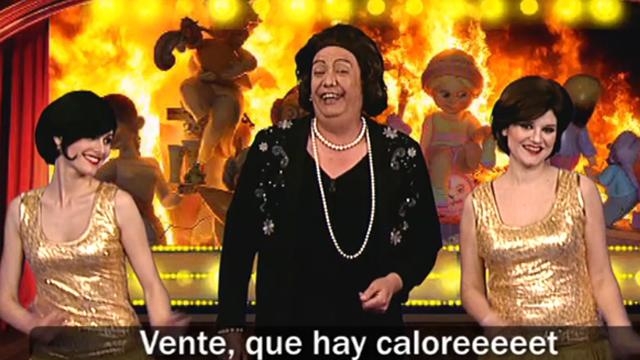 En plenas Fallas, vuelve el tele tipo de Rita Barberá a interpretar un número de postín: El Caloret