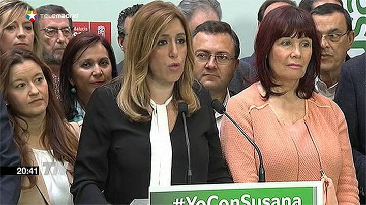 Susana Díaz asegura que gobernará en solitario y que se quedará en Andalucía