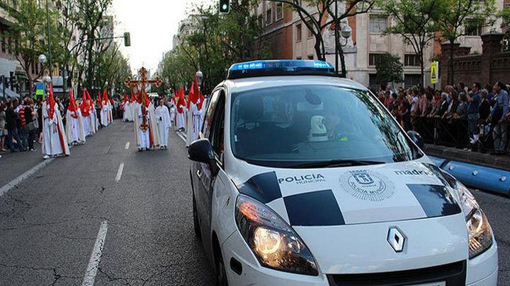 Cortes de circulación en Madrid capital a causa de las procesiones de Semana Santa