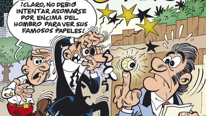 Ibánez celebra los 200 números de Mortadelo y Filemón con 'El tesorero'