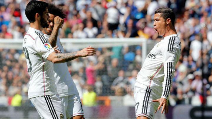 3-0. El Real Madrid golea al Eibar y reduce diferencias con el Barça