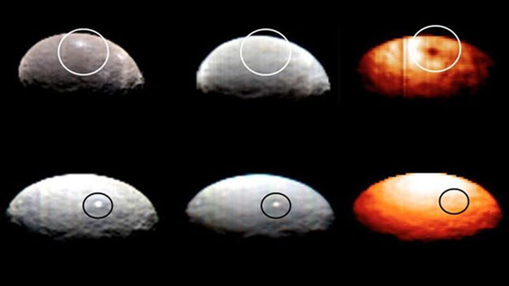 Ya son diez los puntos brillantes localizados en el planeta enano Ceres