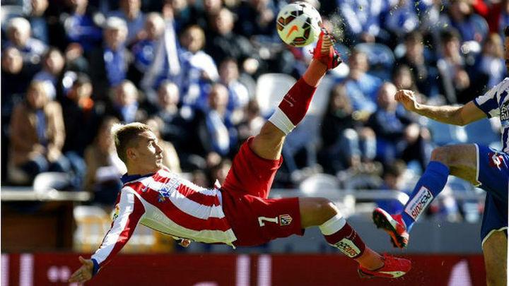 1-2. Dos goles de Griezmann acaban con el Deportivo