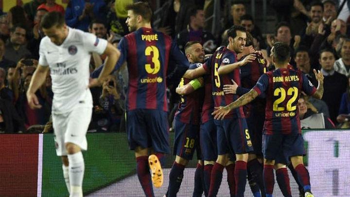 El Barça gana al PSG (2-0) y el Bayern al Oporto (6-1), a semifinales