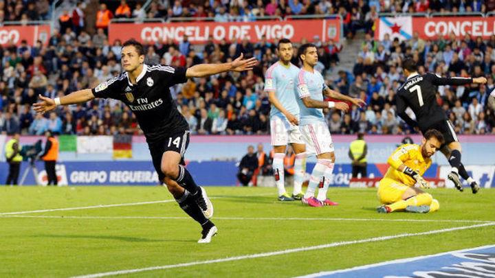 2-4. 'Chicharito' mantiene al Real Madrid en la lucha por la Liga