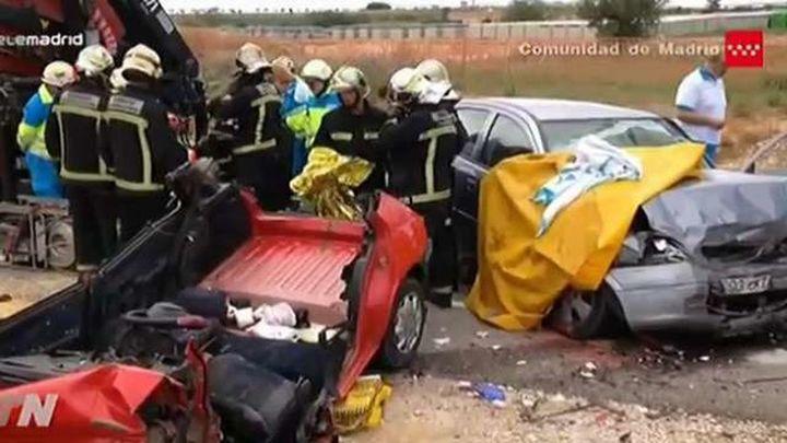 Una pareja de ancianos muere en un choque frontal en Campo Real