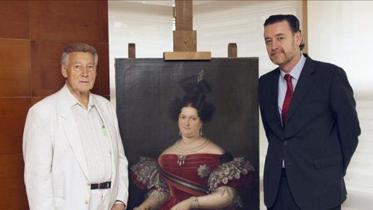 Cuadro de la reina María Cristina de Borbón