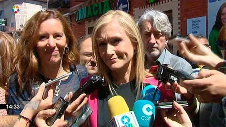 """Cifuentes avisa que Ciudadanos """"probablemente"""" apoyará al PSOE"""