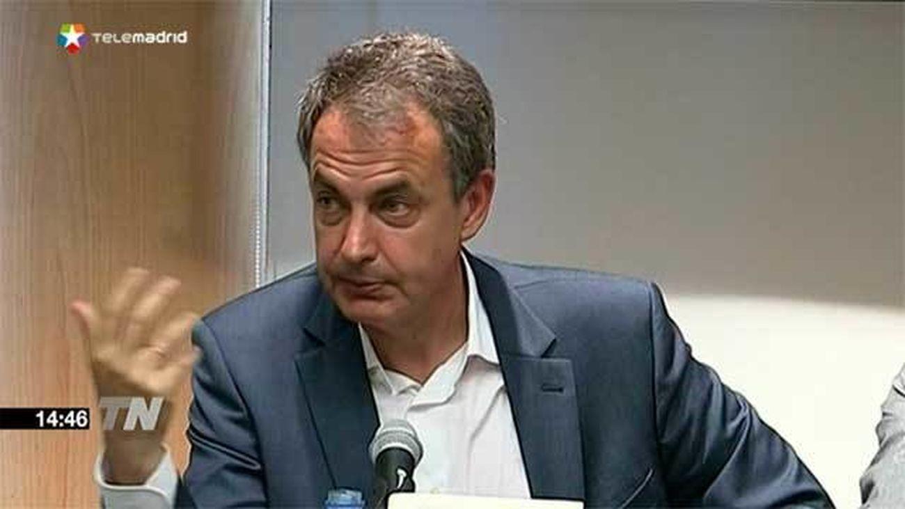 """Zapatero aboga por ofrecer una """"agenda de diálogo"""" político a Cataluña"""
