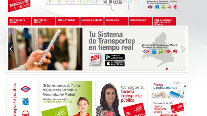 La web del Consorcio de Transportes obtiene un galardón en los Premios Madrid Accesible