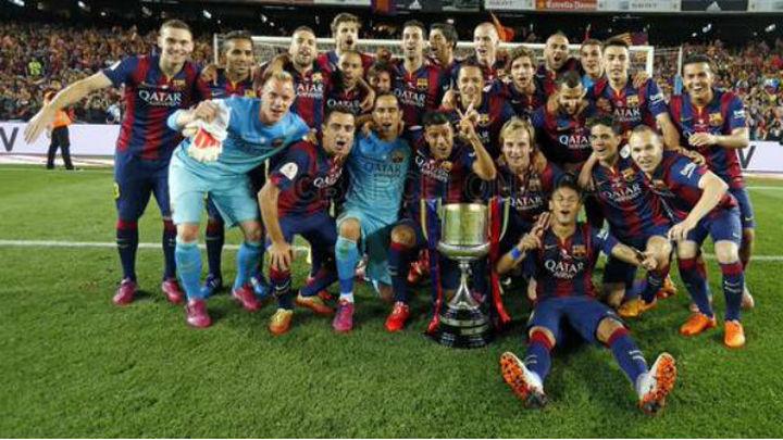 1-3. El Barcelona arrolla al Bilbao en la final de Copa
