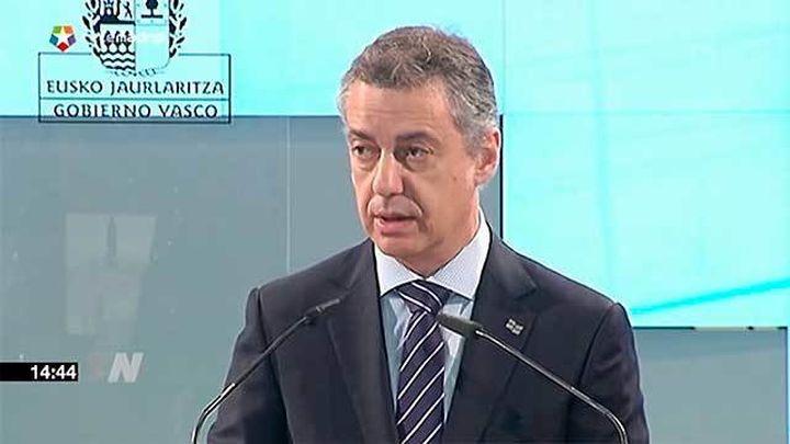 """Urkullu aboga por un nuevo estatus de soberanía  compartida para lograr """"más Estado vasco"""""""