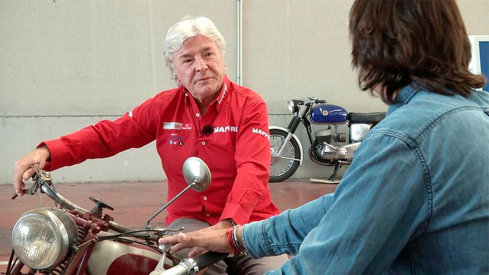 El campeón de motociclismo, Ángel Nieto