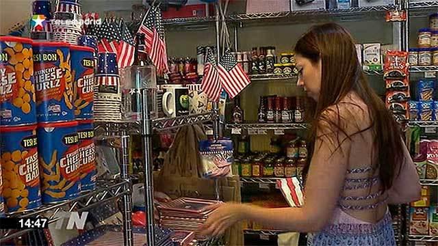 Los norteamericanos que viven en Madrid lo celebran