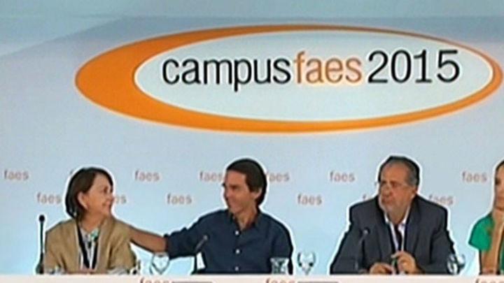 """Aznar: """"Cuando el populismo llega, llega para quedarse"""""""