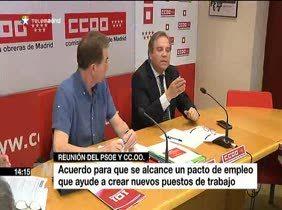 Carmona y CC.OO. reclaman un pacto de empleo para crear nuevos puestos de trabajo