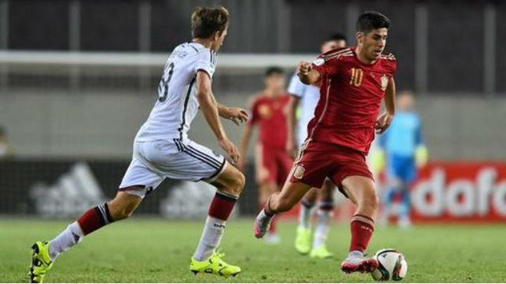 2-0. Marco Asensio mete a España en la final del Europeo Sub'19
