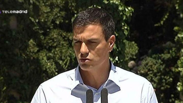 """Pedro Sánchez atribuye la reforma electoral del PP a su """"impotencia"""""""