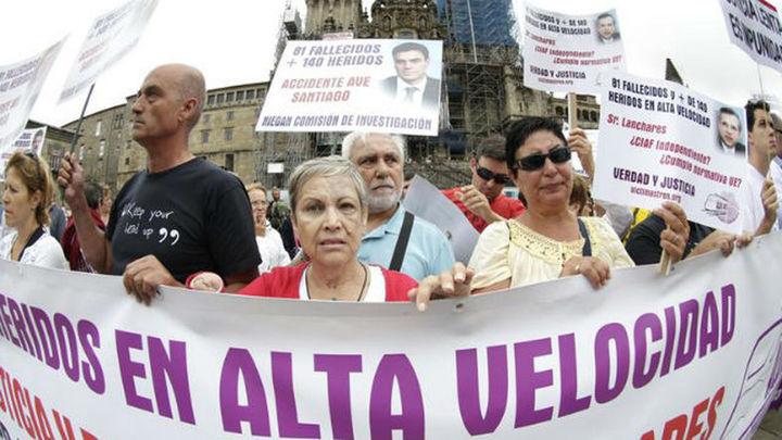 """Víctimas del Alvia exigen """"justicia"""" y  """"verdad"""" con una investigación impacial"""