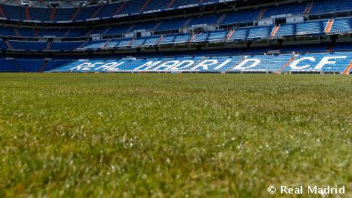 El nuevo césped del Bernabéu, mezcla de natural y artificial