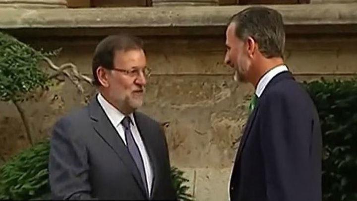 El Rey recibirá este lunes a Rajoy  en el Palacio de Marivent