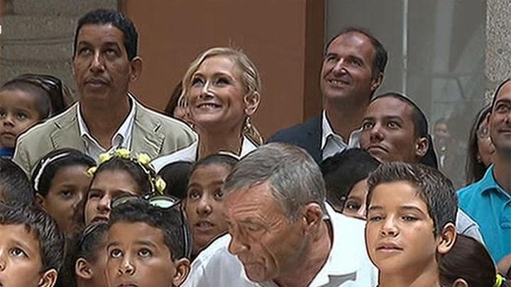 Niños sahurauis acogidos por familias madrileñas empiezan  sus vacaciones en Madrid